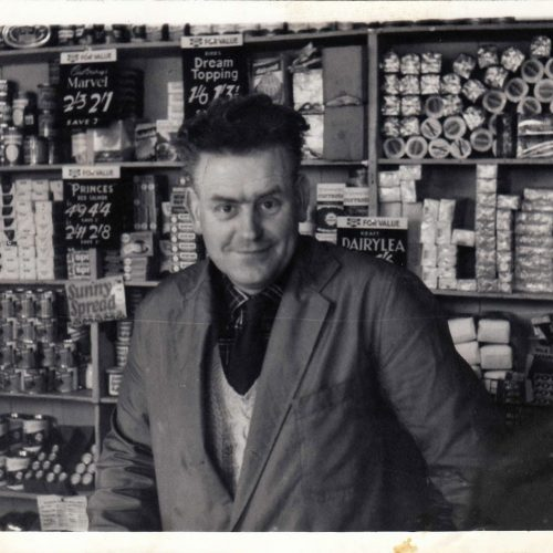 1960s - Ronald's father Neillie MacLennan in the original corrugated shop