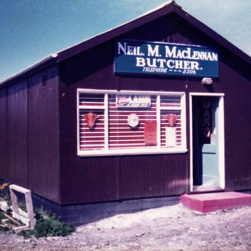 1976 - the original wooden butchery building