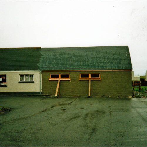 1988 - the extension under construction onto the self-service shop for the clothing department