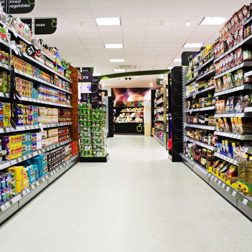 2014 New shop, grocery isle looking towards fruit and veg section