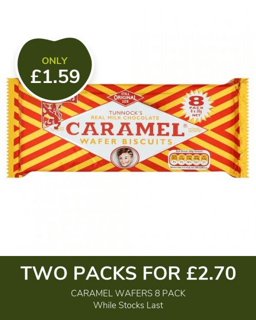 CARAMEL WAFERS POSTER